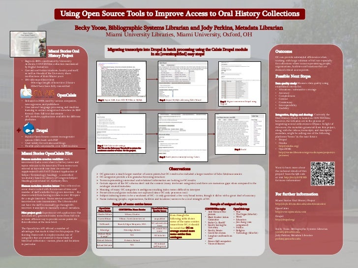 Using Open Source Tools to Improve Access to Oral History Collections                                                   Be...