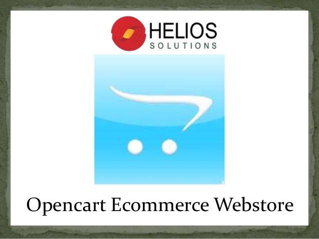 Opencart Ecommerce Webstore