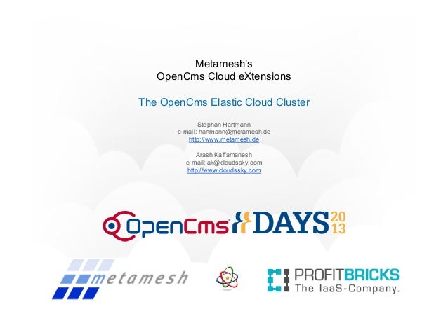 OpenCms Days 2013 - OpenCms Cloud eXtensions