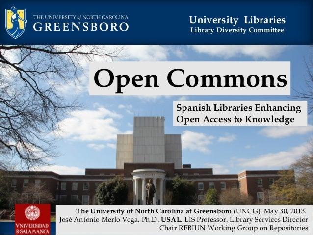 University LibrariesLibrary Diversity CommitteeOpen CommonsSpanish Libraries EnhancingOpen Access to KnowledgeThe Universi...