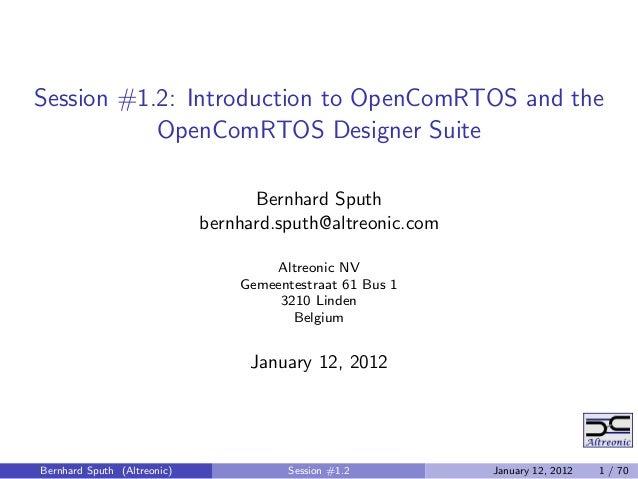Open ComRTOS 1.4_tutorial_2o4_presentation