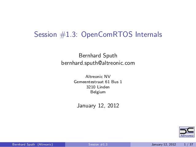 OpenComRTOS 1.4_tutorial_3o4_presentation
