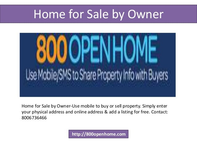 Get The Best Home For Sale By Owner