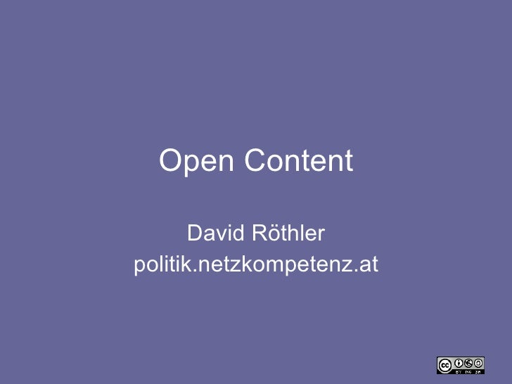 Open Content David Röthler politik.netzkompetenz.at