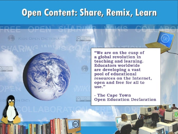 Open Content: Share, Remix, Learn