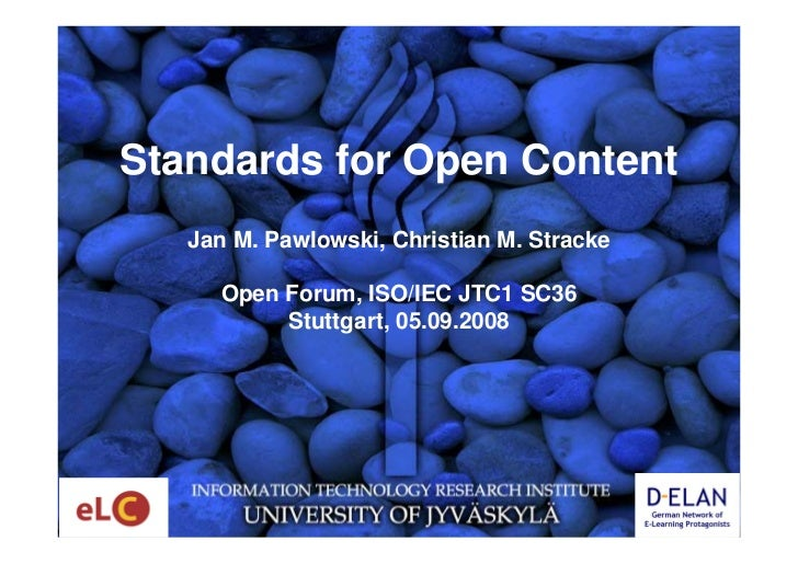 Standards for Open Content