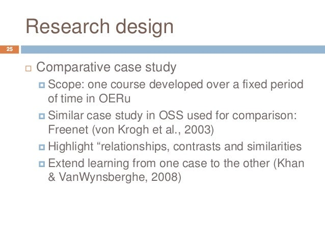 research paper of a comparative study