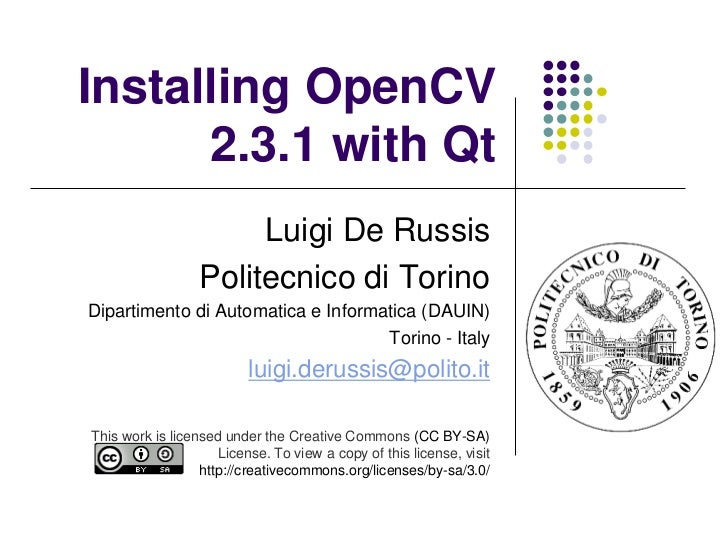 Installing OpenCV 2.3.1 with Qt