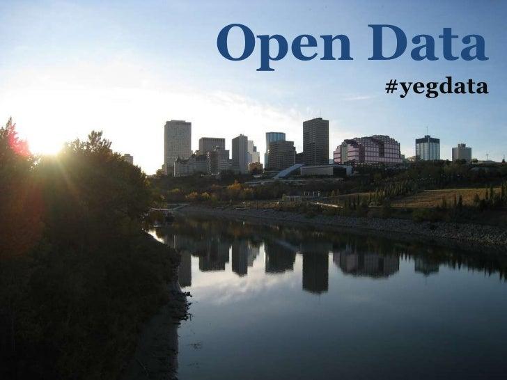 City of Edmonton Open Data Workshop