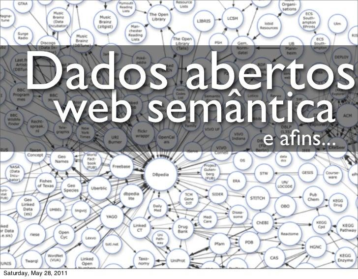 Dados abertos                web semântica                         e afins...Saturday, May 28, 2011