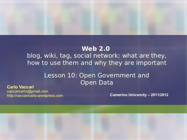 Web2.0.2012 - lesson 10 - open data