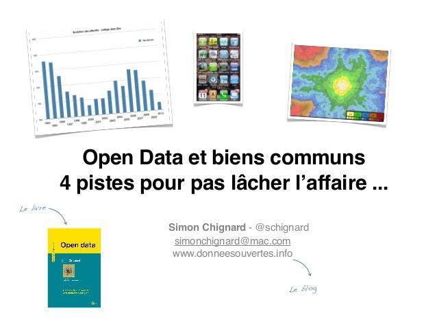 Open data et biens communs : 4 pistes à explorer