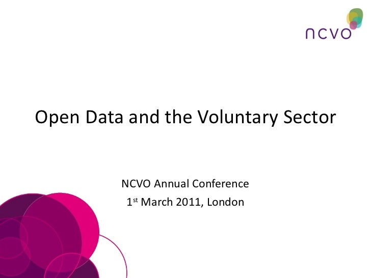 Open data and the voluntary sector