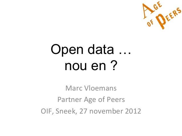 Open data en sinterklaas