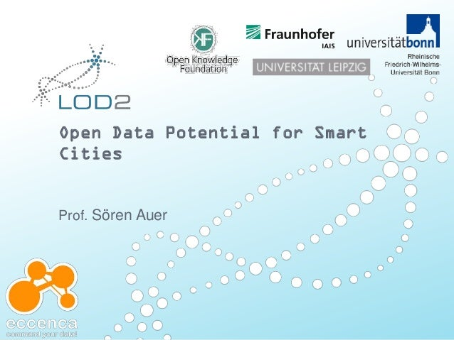 Open data for smart cities