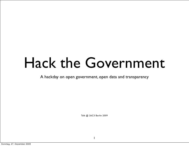 Hack the Government                              A hackday on open government, open data and transparency                 ...