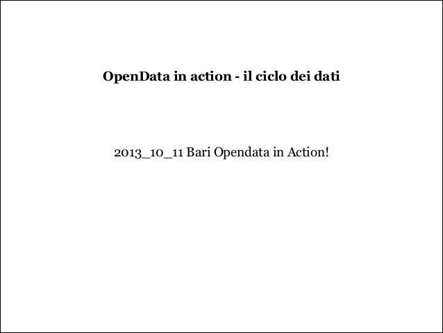 #Opendata in action   il ciclo dei dati
