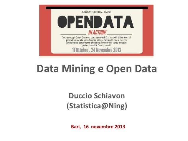 Data Mining e Open Data