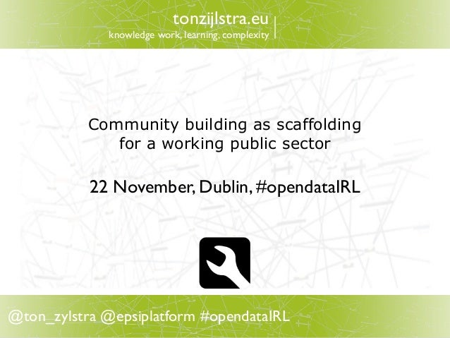 Community Building as Scaffolding for a Working Public Sector