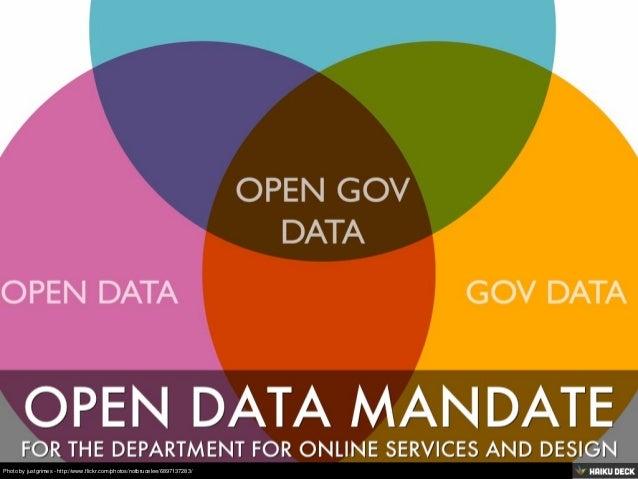 Open Data Mandate for DSOD