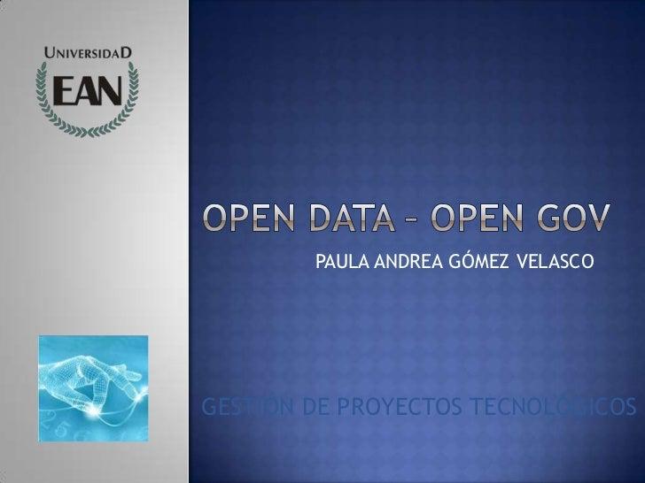 PAULA ANDREA GÓMEZ VELASCOGESTIÓN DE PROYECTOS TECNOLÓGICOS