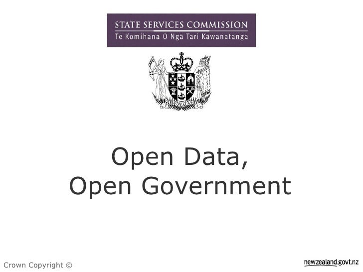 Open Data Open Government Presentation Sep 2009 (Updated)