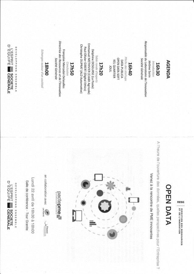 """Conférence """"Open data perspectives pour l'entreprise"""""""