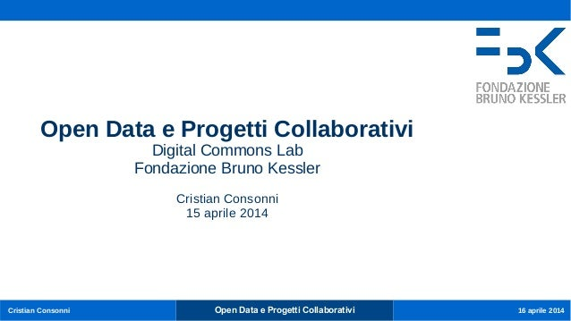 OpenData e progetti collaborativi