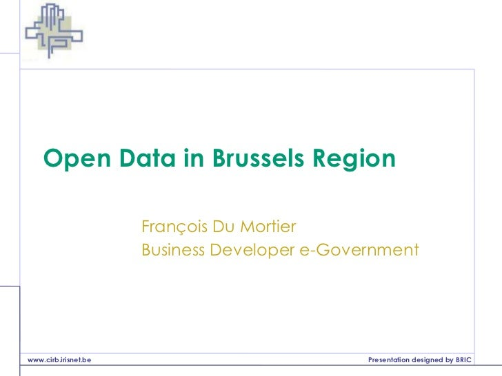 Open Data in the Brussels Region