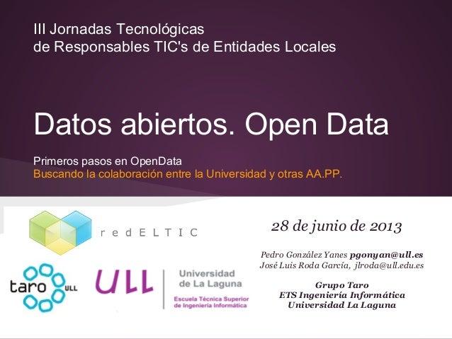 Open data redeltic
