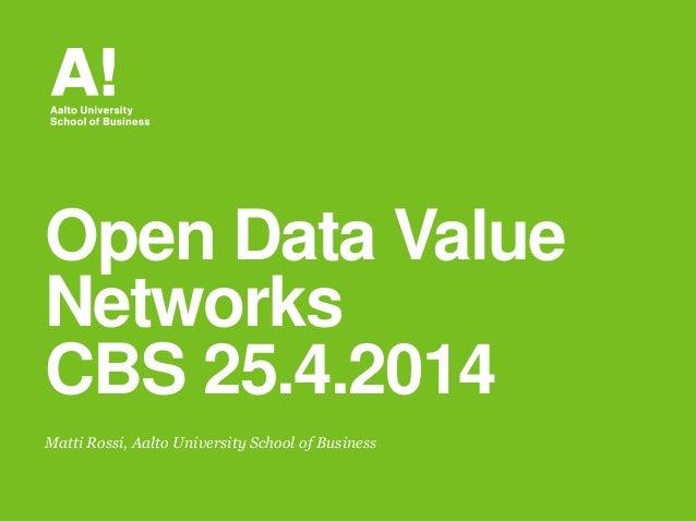Open data ecosystems research talk at Copenhagen Business School on 25042014