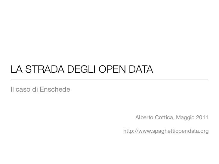 Open data: una road map per le città