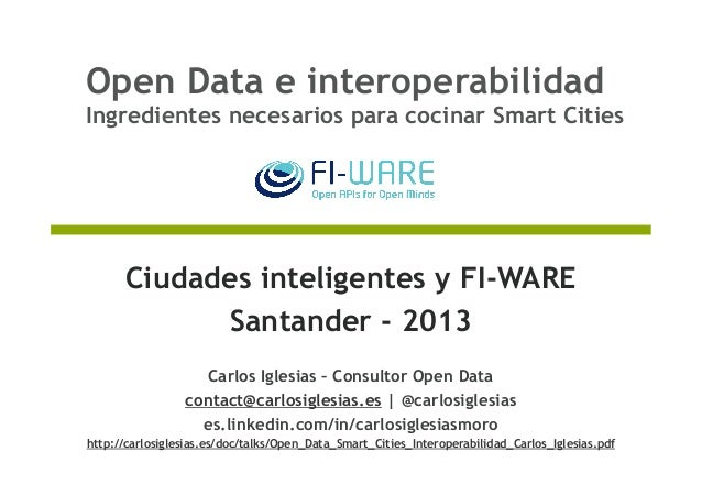 Open data e interoperabilidad ingredientes necesarios for Ingredientes para cocinar