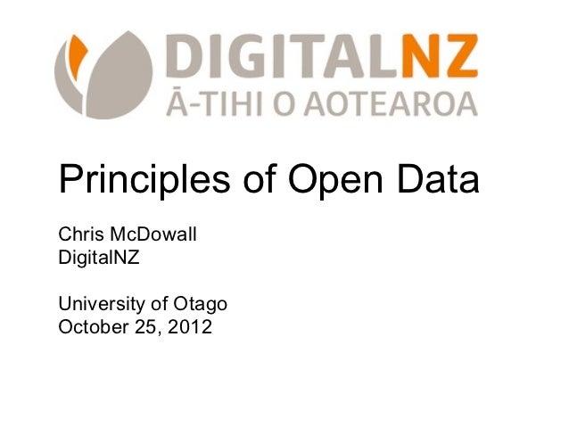 Principles of Open Data