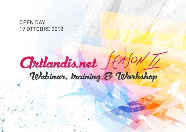 Artlandis' webinar Season 2 -Open day