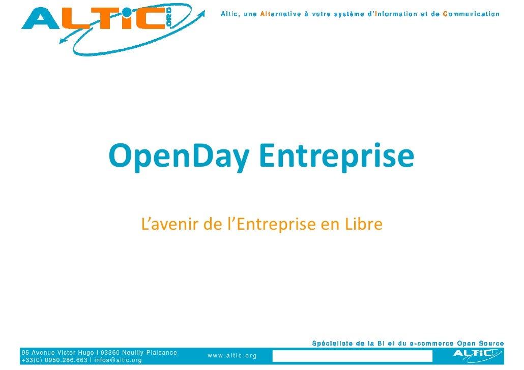 OpenDay Entreprise  L'avenir de l'Entreprise en Libre