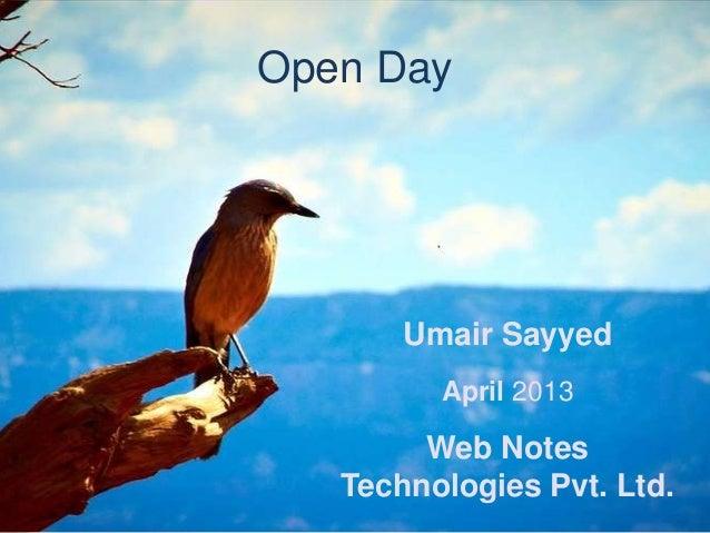 ERPNext Open Day Presentation April