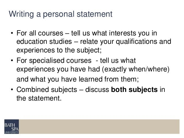 Personal statement for education