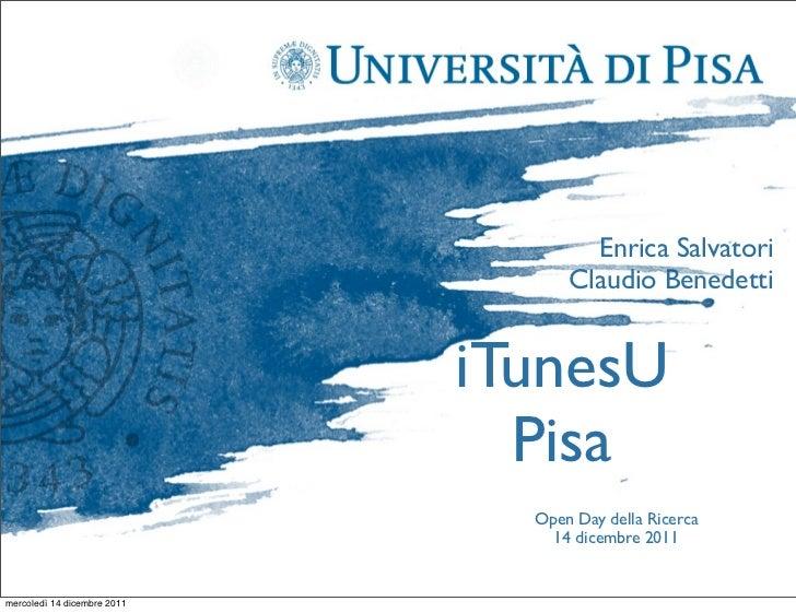 ITunes U a Pisa