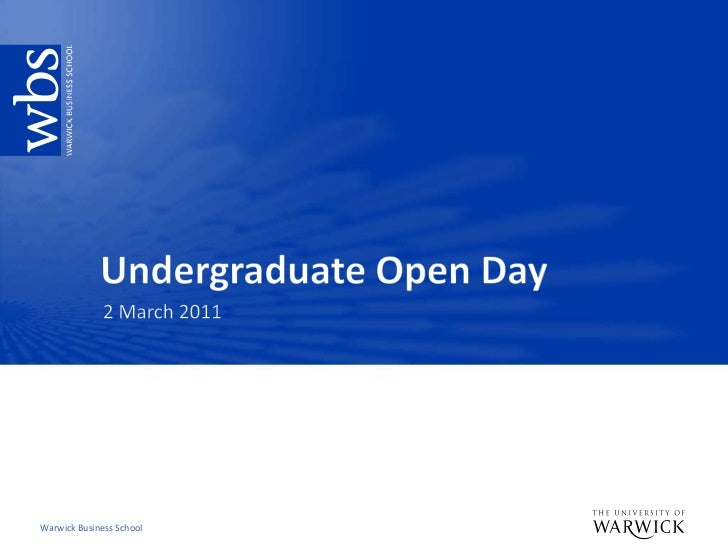 Undergraduate Open Day<br />2 March 2011<br />