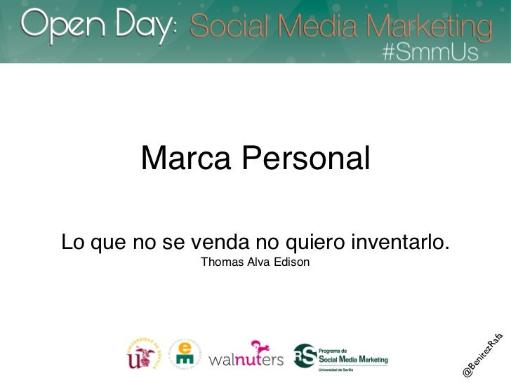 Marca Personal - Open Day SmmUS