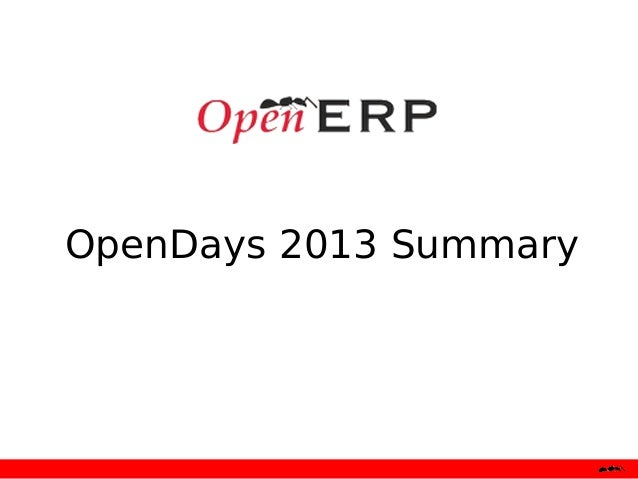 Open Days 2013 summary