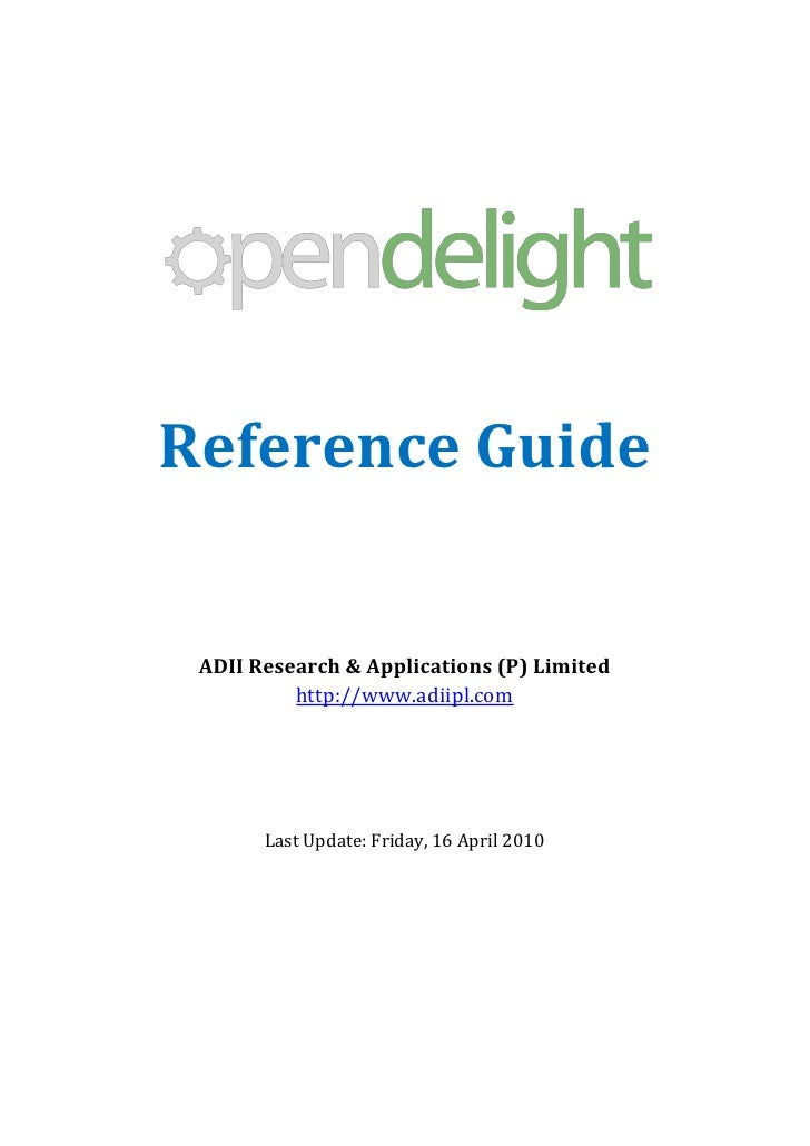 Reference Guide    ADII Research & Applications (P) Limited           http://www.adiipl.com            Last Update: Friday...