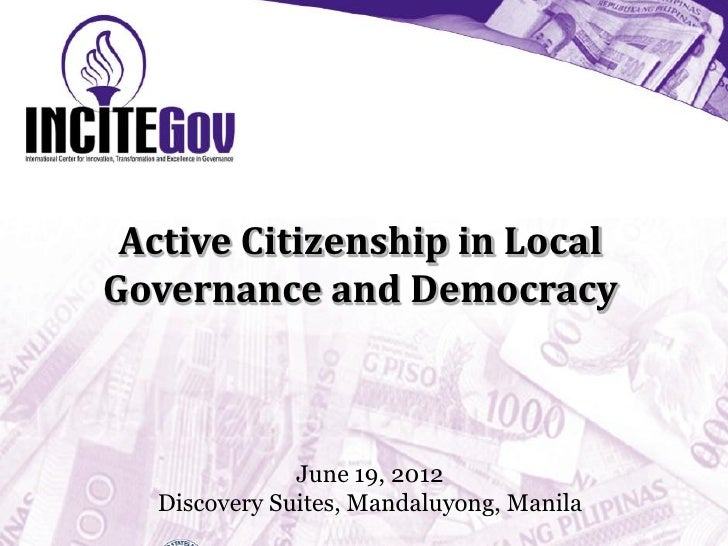 Presentation: Active Citizenship in Local Governance and Democracy by Tanya Hamada, INCITEGov