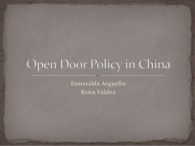 open door policy with china essay Essays - largest database of quality sample essays and research papers on the open door policy.