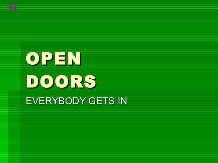 Open doors presentation