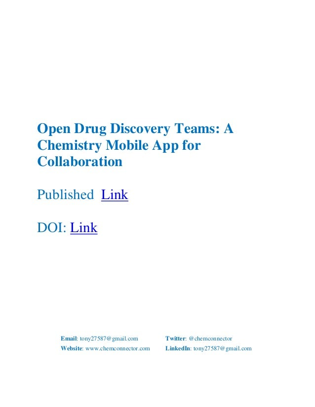Open Drug Discovery Teams: A Chemistry Mobile App for Collaboration