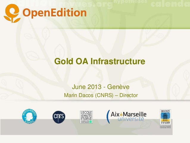 OpenEdition  - A digital infrastructure for Open Access