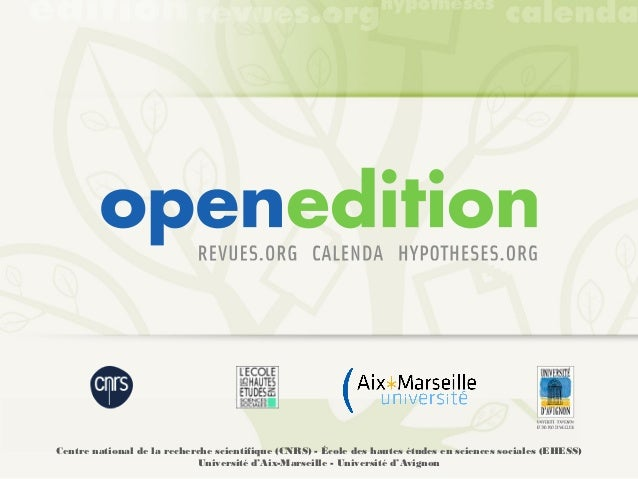 OpenEdition, a european webplatform for the humanities
