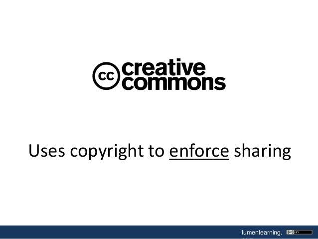 Uses copyright to enforce sharing  lumenlearning.